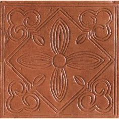 "Consider as accent in Kitchen??  Saltillo 6""x6"" Antique Adobe Ceramic Floral Deco Floor & Wall Tile (Home Depot) - $2.95ea"