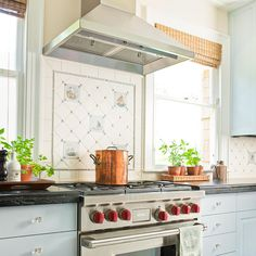 Finding cool old tiles make a great focal point for an update in your kitchen: http://www.bhg.com/home-improvement/remodeling/budget-remodels/how-to-save-money-remodeling/?socsrc=bhgpin082814useceramictile&page=2