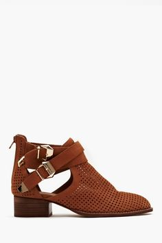 Everly Cutout Boot - Tan Perforated