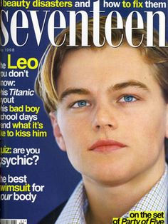 Aw! Look at cutie Leonardo DiCaprio on our January 1998 cover! At twenty-three, he had just reached international fame in Titanic. We can't wait to see the 3-D release in theatres so soon!