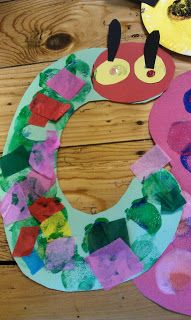 Letter C - Caterpillar craft for kids. #preschool #kidscrafts #caterpillar