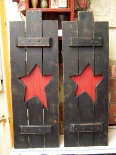 Primitive shutters  American Primitive Furnishings