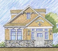 Coastal Home Plans - Ferry Point Cottage