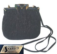 Sharif Black Designer Purse