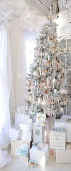 studio, white christmas trees, vintage christmas, dreamy whites, shabby chic christmas, silver, christma tree, winter wonderland, christmas ideas