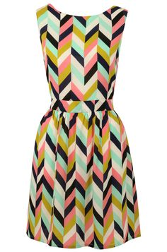 A suitable dress for a holiday party, particularly if you've got a mid-century style | Louche Carys Chevron Dress - $24.59