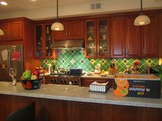 mexican tile design kitchen | Mexican Tile Backsplash Design Ideas, Pictures, Remodel, and Decor