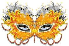#Yellow #Feathers #Carnival #Party #Mask-#Vector © bluedarkat #27671286         http://us.fotolia.com/id/27671286r