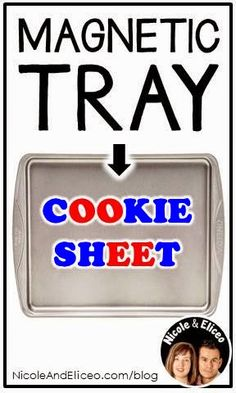 Teacher Tip: Cookie sheets = magnetic letter trays!