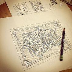 More early morning scribbles.  #typehunter #designvscancer #sketches