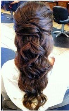 homecoming hairstyles, bridesmaid hair, long hairstyles, prom hairstyles, wedding hairs, formal hairstyles, brown hair, flower girl hairstyles, long hair styles