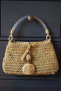 Gold and silver elegant bag by GomitolieDintorni on Etsy, €45.00