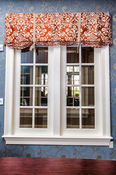 Custom Roman shade #windowtreatments