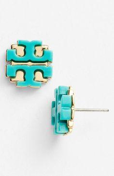Tory Burch Large Logo Stud Earrings | Nordstrom