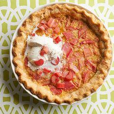 custard pie, rhubarb custard, rhubarb chess pie