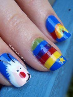 Rainbow Brite nails