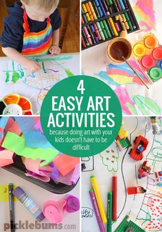 Four Easy Art Activities For Kids picklebums.com