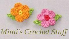 Crochet little flowers