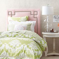 Caroline Green and Pink Girls Bedding for Girls Rooms | Serena & Lily :)