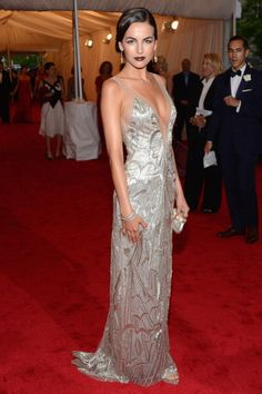 Camilla Belle in Ralph Lauren at the 2012 Met Gala. Completely put together. A beautiful gown, with perfect styling and an awesome shade of lipstick.
