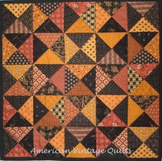 Fall Hour Glass Mini from American Vintage Quilts