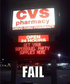 Superbowel Party Supplies FAIL