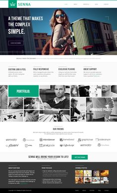 Senna - Portfolio and Blog PSD Template by Zizaza - design ocean. Website design layout. Inspirational UX/UI design samples.  Visit us at: www.sodapopmedia.com #WebDesign #UX #UI #WebPageLayout #DigitalDesign #Web #Website #Design #Layout