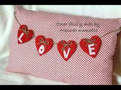 Cojín reversible para San Valentín o Navidad - Reversible Saint Valentine cushion - YouTube