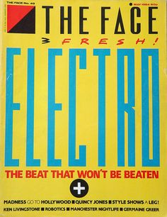 Neville Brody's classic 'Electro' cover for The Face Magazine