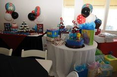 The item that has the Dr. Seuss Stuff Animal, would be cute to make like the diaper cake but with gifts instead.