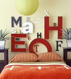 craft, headboard idea, headboards, hous, diy, letters, decor idea, design, bedroom