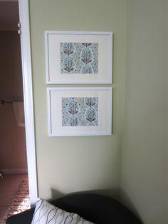 frame fabric for cute wall art