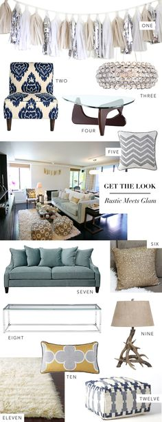 love this 1. Handmade tassel garland (Price Varies) 2. Urban Outfitters chair ($369) 3. Z Gallerie Chandelier ($399) 4. Overstock Coffee Table ($444.99) 5. Jonathan Adler Pillow ($50) 6. West Elm Pillow  7. Z Gallerie Sofa ($1699) 8. CB2 Coffee Table ($199) 9. Antler Lamp ($154.90) 10. Happy Chic by Jonathan Adler Pillow ($35) 11. RugsUSA Rug ($139-$1142) 12. West Elm Pouf ($249)