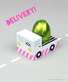 Printable Easter egg truck!
