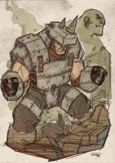 Rhino Steampunk Re-Design by ~DenisM79 (The same guy that brought you Rockabilly Batman)