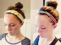 Homemade Headbands add sparkl, homemad craft, homemad headband, homemade crafts, teen craft, homemade headband, headbands
