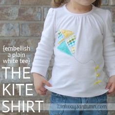 it's always autumn - itsalwaysautumn - the kite shirt {easy embellished tee}