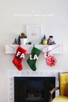 DIY Holiday Clay Letter Garland   #DIY