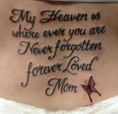In loving memory of my mom.