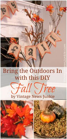 Bring the Outdoors in with this DIY Fall Tree by Vintage News Junkie