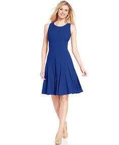 Calvin Klein Petite Sleeveless Seamed Dress