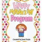 "This Mother's Day Program is Adorable!  It is a beautiful but humorous presentation to show all moms or that ""special someone"" how much they are loved not just on this special day but everyday.  The children peform the whole program from start to finish.  They will recite poems and sing songs that are sure to delight everyone in attendance."