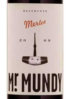 Mr Mundy wine label by SwearWords, Melbourne.