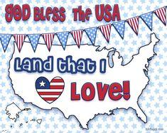 I love this cute patriotic print! Free printable at inkhappi.com