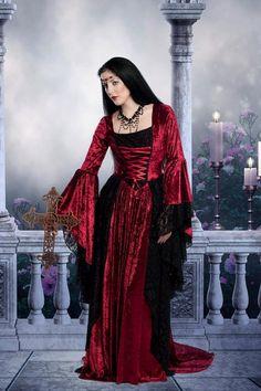 Gwendolyn Medieval Gothic Wedding Gown Custom by RomanticThreads, $465.00
