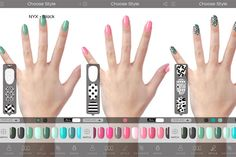 Virtual Nail Salon App Lets You Try Before You Buy - Find your ideal color from polish brands like Orly, Zoya and Deborah Lippmann.