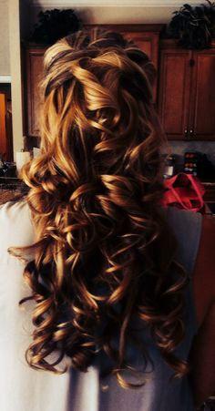 big curls, tight curls, color