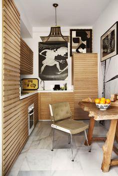 Santiago Castillo interior design, wood, madrid, small kitchens, hous idea, apartments, lorenzo castillo, black, kitchen cabinets