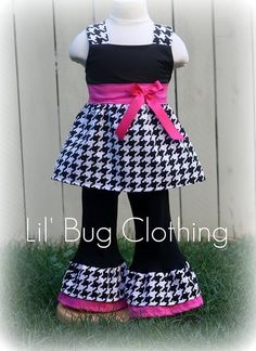 Custom Boutique Clothing Houndstooth Jumper Top by LilBugsClothing, $49.99