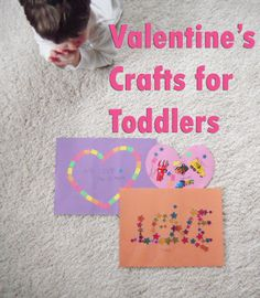 Valentine's Craft for Toddlers using Stickers